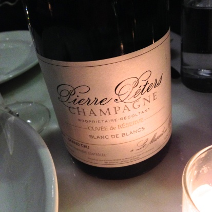 One of the best grower Champagnes out there: Pierre Peters, Blanc de Blancs.