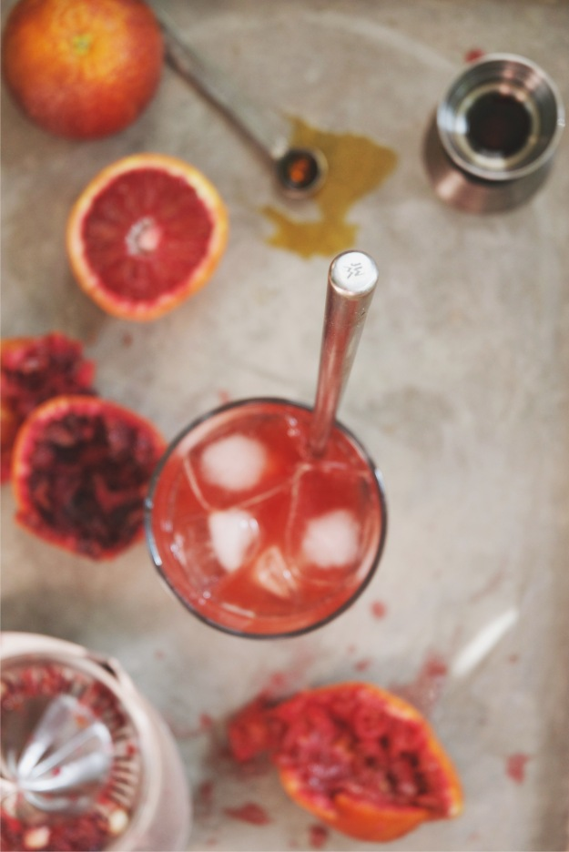 blood orange + fernet cocktail | holly & flora