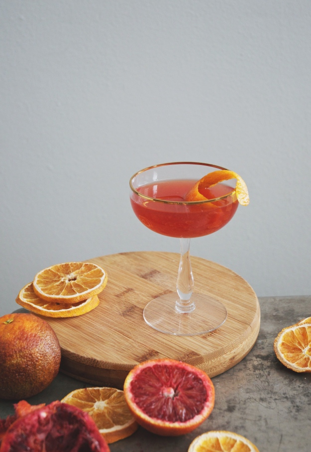 blood orange + fernet cocktail | holly & flora