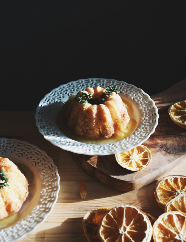 meyer lemon thyme olive oil cake | holly & flora