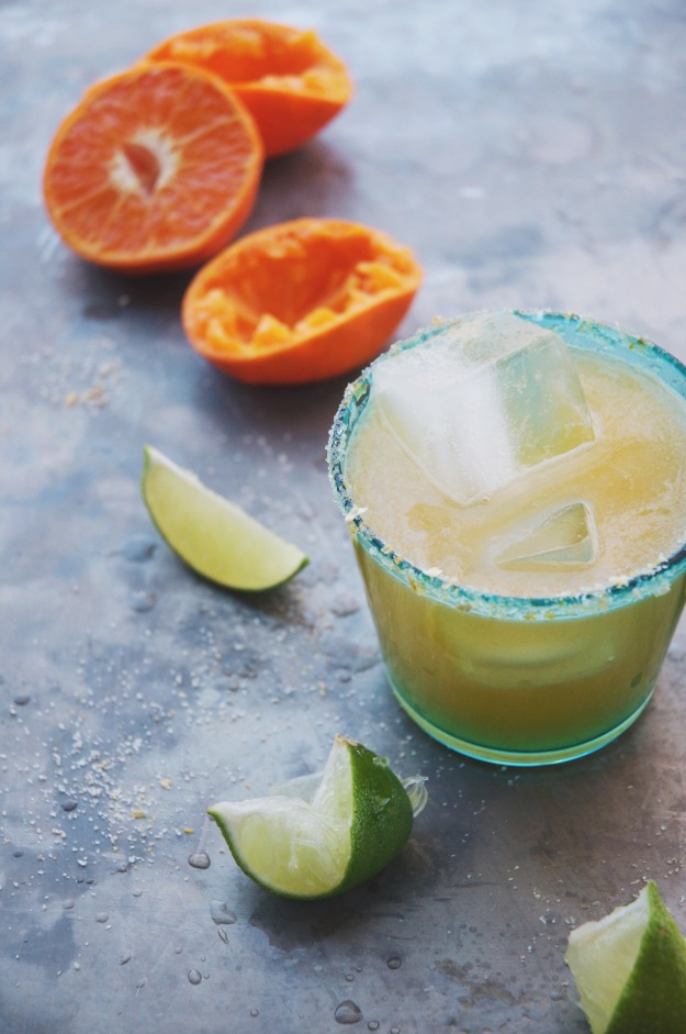 citrus salt-rimmed tangerine margaritas | holly & flora