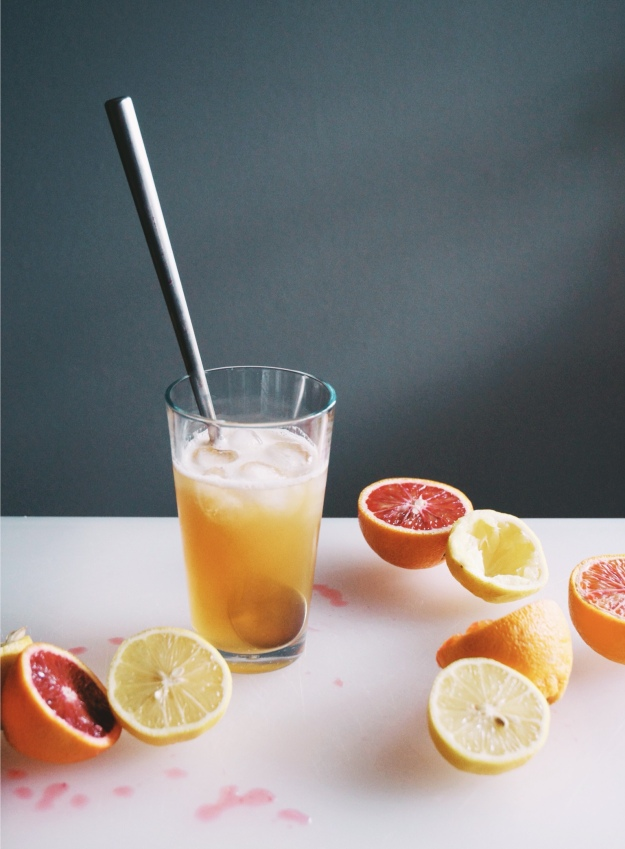 blood orange whiskey cocktails | holly & flora