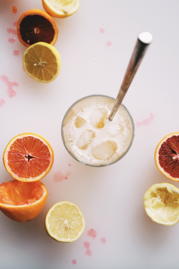 bloody orange whiskey cocktail