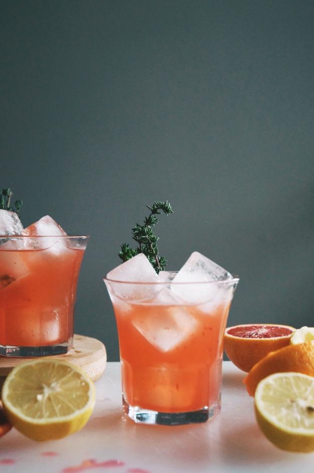 blood orange whiskey cocktail