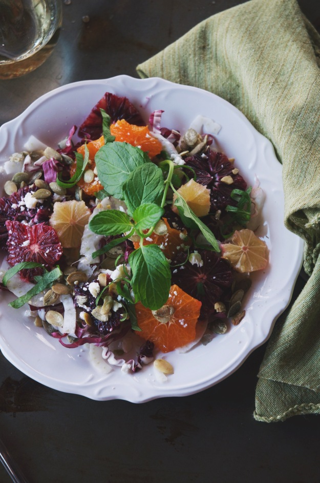 winter citrus salad | paired with a chenin blanc blend