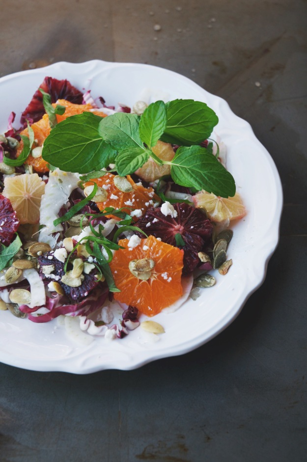 winter citrus salad + blood orange shrub dressing | paired ...