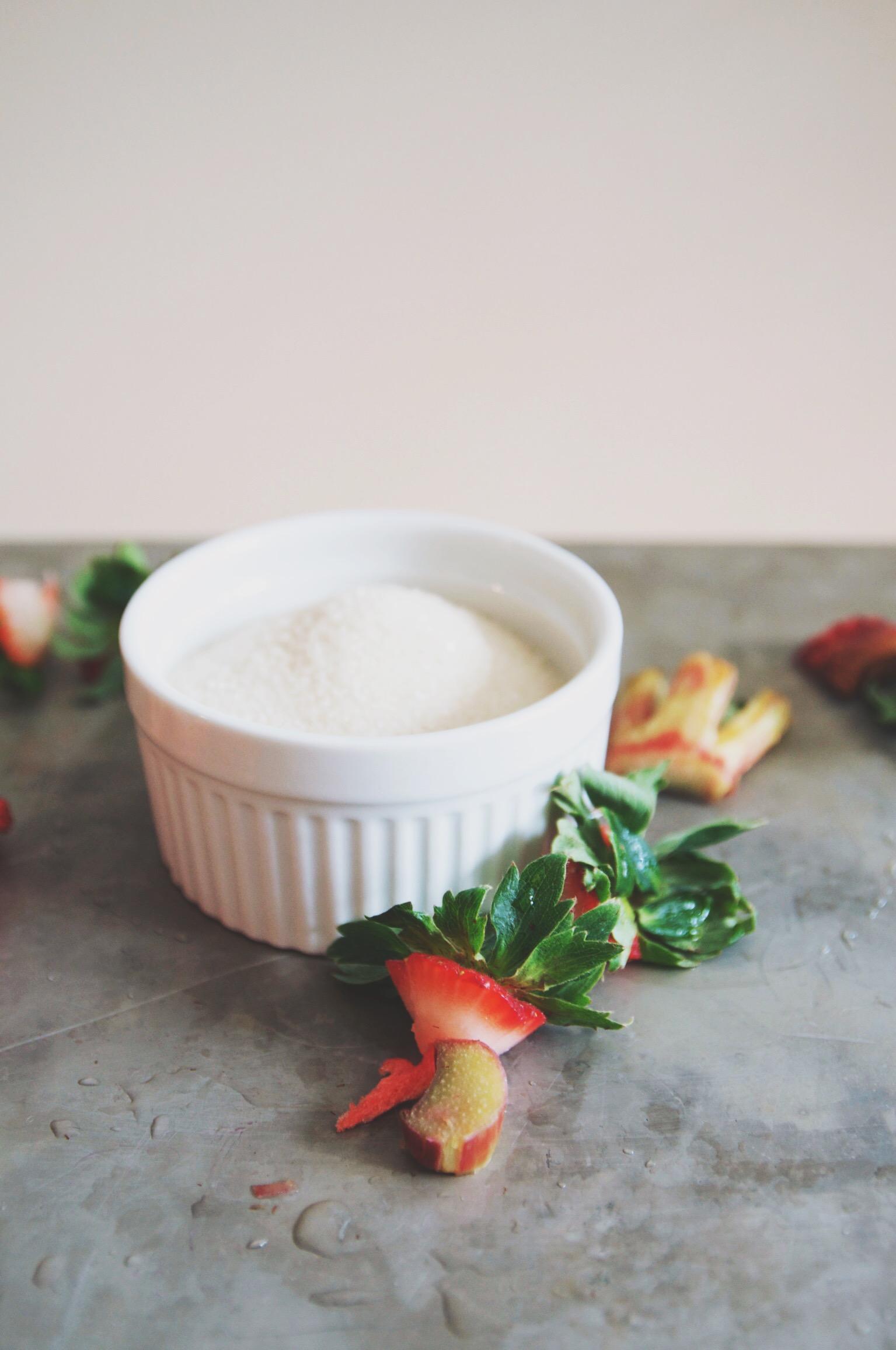 rhubarb strawberry shrub mojito | holly & flora