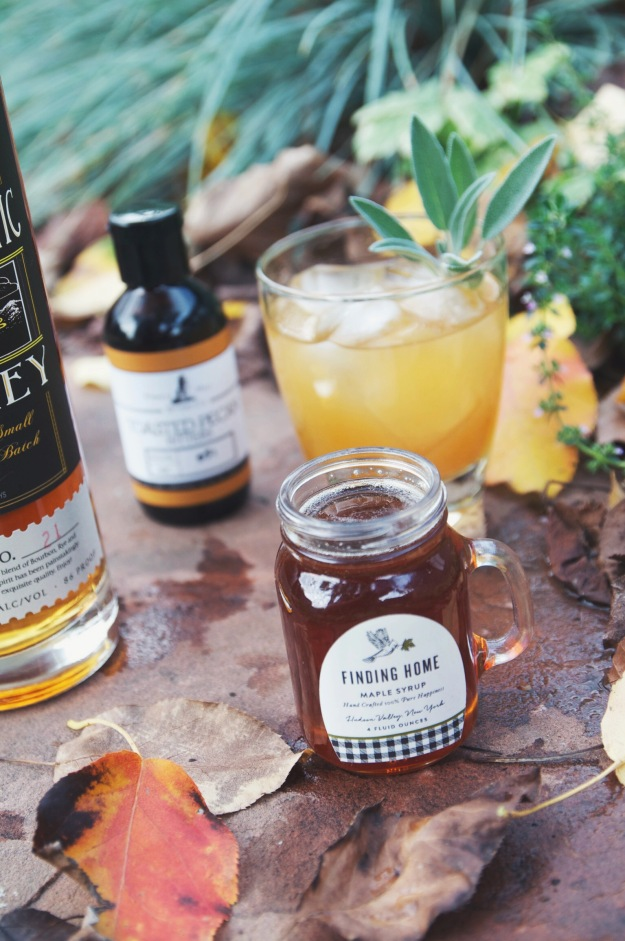 palisade peach + sage whiskey smash | holly & flora