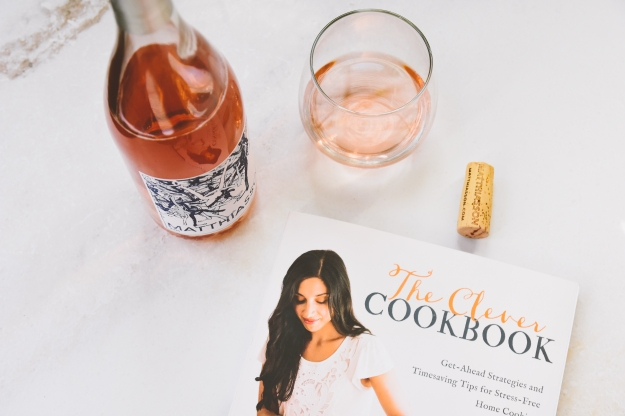 "rosé with spice-roasted carrot + avocado salad | emilie raffa's ""the clever cookbook"" + a giveaway"