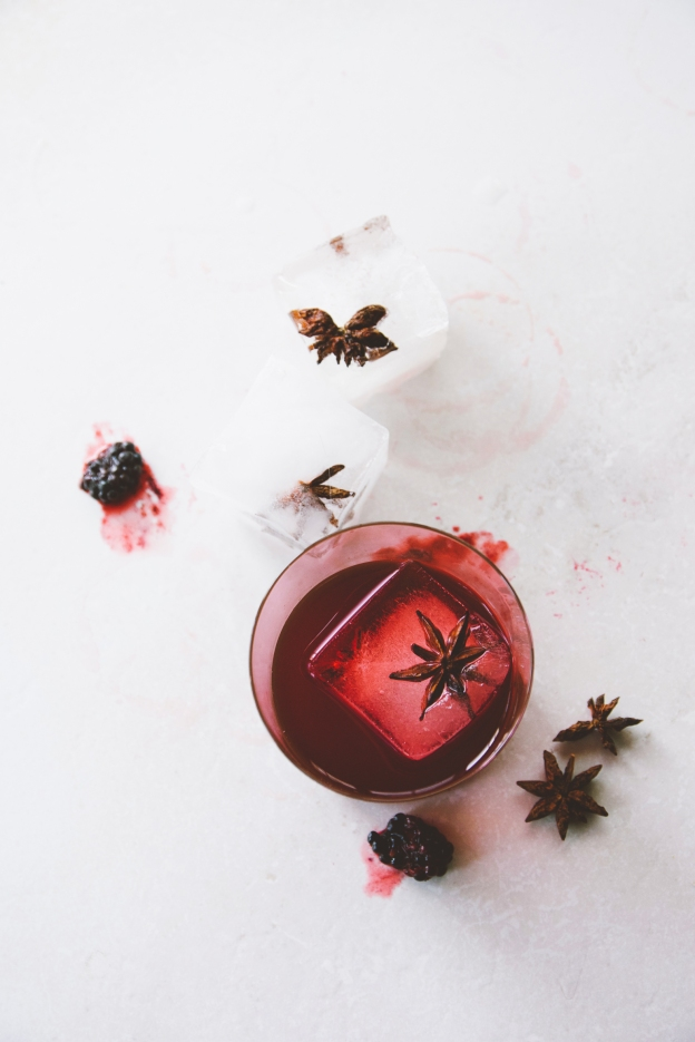 crushed blackberry negronis   holly & flora