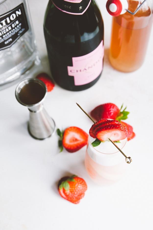 rhubarb + rosé ramos gin fizz | initiating the jump