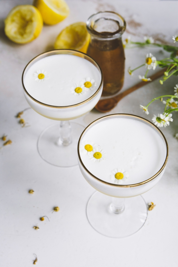 orange, absinthe, chamomile gin fizzes | holly & flora