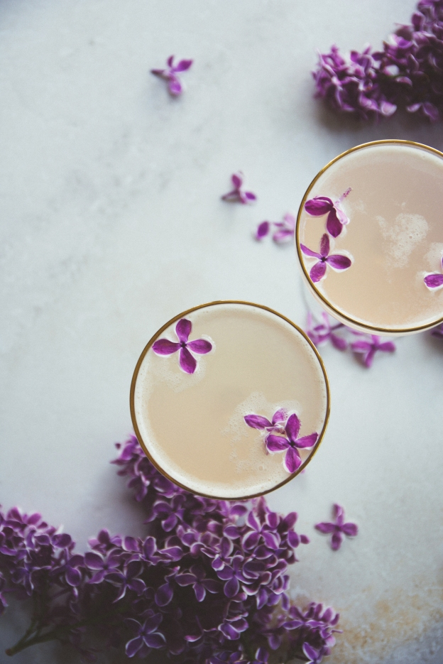 lilac 75 cocktails + lilac syrup | eat boutique