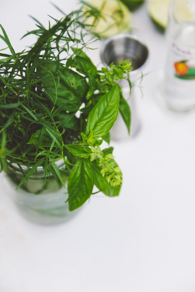 palisade peach + tarragon spritzes | rituals | holly & flora