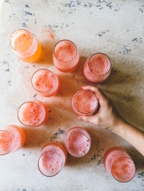 I went back for seconds of Amanda's Strawberry French 75s. We toasted to the start of a great weekend with these pretties.